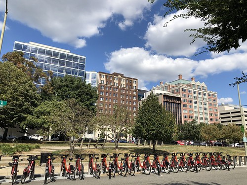 Capital Bikeshare station, James Madison Park, Pennsylvania Avenue NW, Washington, D.C.