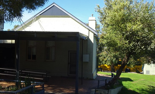 Wangary near Coffin Bay. The old stone government primary school now modernised. Built around 1900.