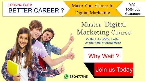 Looking for better career enroll for Digital Marketing Course .eduvogue