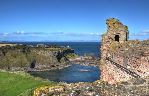 The ruins of Tantallon Castle, Scotland
