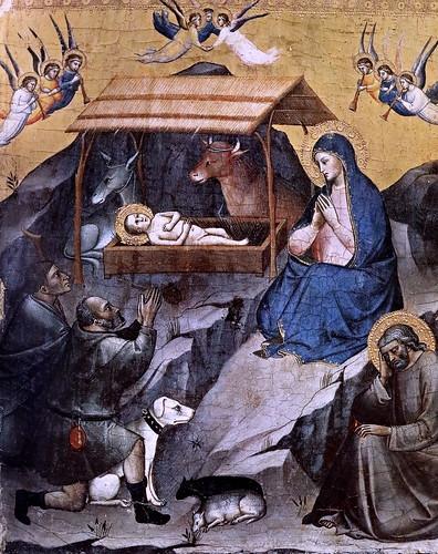 IMG_2950Q Mariotto di Nardo actif à Florence 1394-1424 Nativité  ca 1385 Vatican Pinacothèque 34,5x25,5