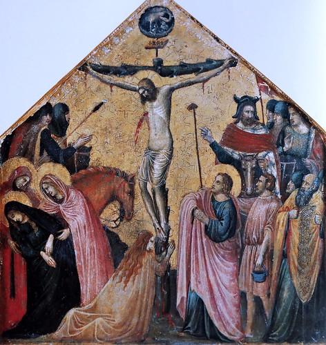 IMG_2950PK Pietro da Rimini ? 1280-1350 Rimini Crucifixion ca 1340 Vatican Pinacothèque  30x28