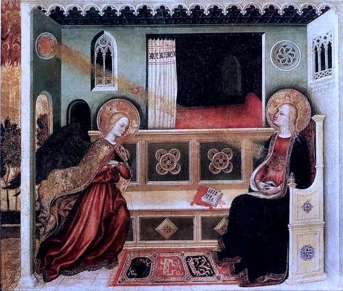 IMG_2950QAA Gentile da Fabriano 1370-1427  actif en Toscane  Annonciation  ca 1425 Vatican Pinacothèque  40x48 Atelier