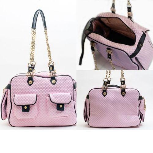Pink Sparkle Dog Carry Bag at Duke and Dutchess USA