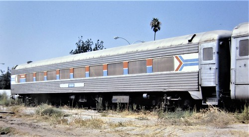 Amtrak [former New Haven] coach at Highland California in 1981 0791