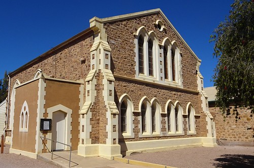Port Augusta. The Presbyterian Church. The memorial stone says it was built in 1885.