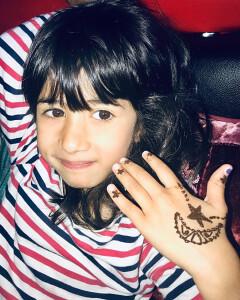 Star in Moon Mehndi Design for Kids