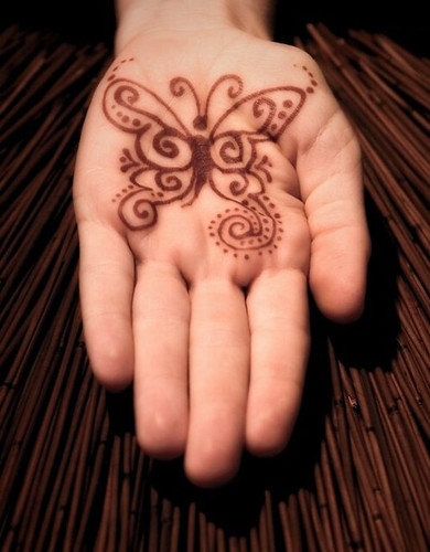 Palm Butterfly Mehndi Design for Kids