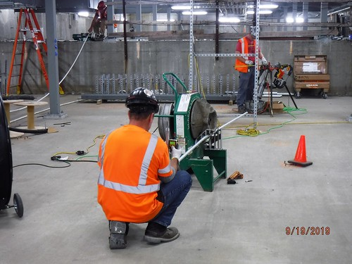 Fabrication and shaping of conduits for installation of the fire alarm system in a new traction power substation in Queens.  09-19-2019