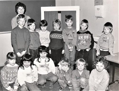 Strand skole, 1.kl 1987-88