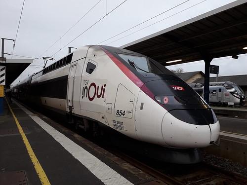 TGV Euro Duplex 3UFC n°854 sur le 8701 Paris Montparnasse - Quimper.