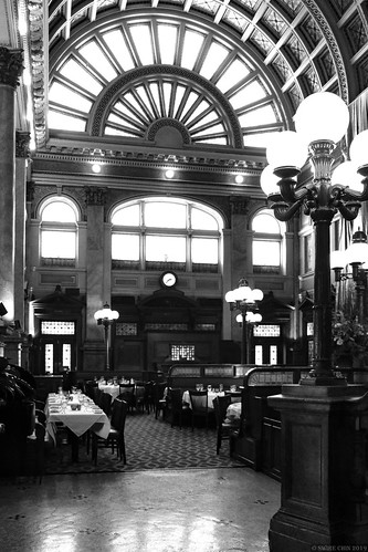 Grand Concourse of Station Square Pittsburgh (B+W)
