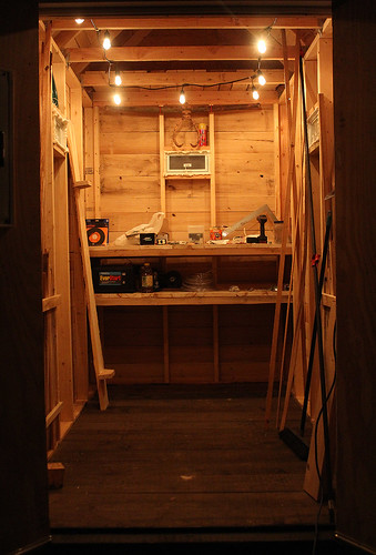 Tool shed inside