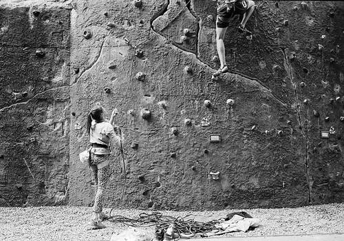 Climbing at the Der Kegel climbing centre in Berlin