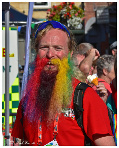 John & his UCI Rainbow beard