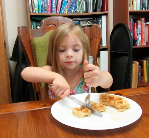 Eating Up Uncle Ryan's Leftover Waffles