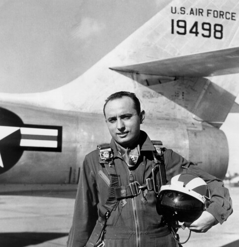CIA PILOT CARMINE ANGELO VITO alongside a General Motors F-84F-35-GK Thunderstreak (sn 51-9498)