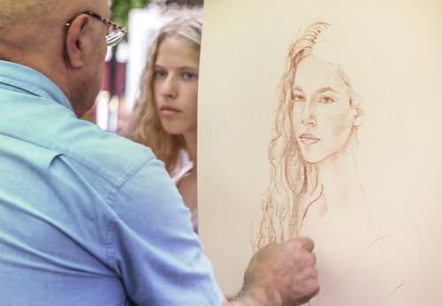 Drawing a Girls Portrait
