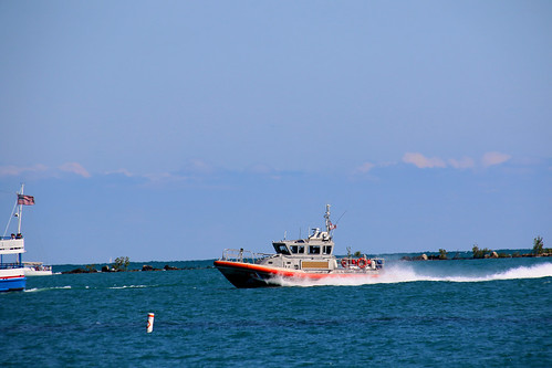 Chicago IL Photo:    US Coast Guard Boat On Patrol At Navy Pier