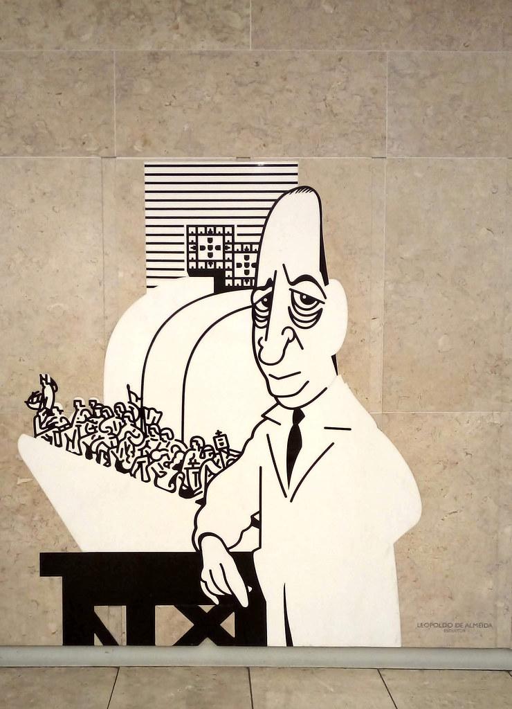 Mestre Leopoldo de Almeida, Portela de Sacavém — © 2019. Caricatura de António, 2012.