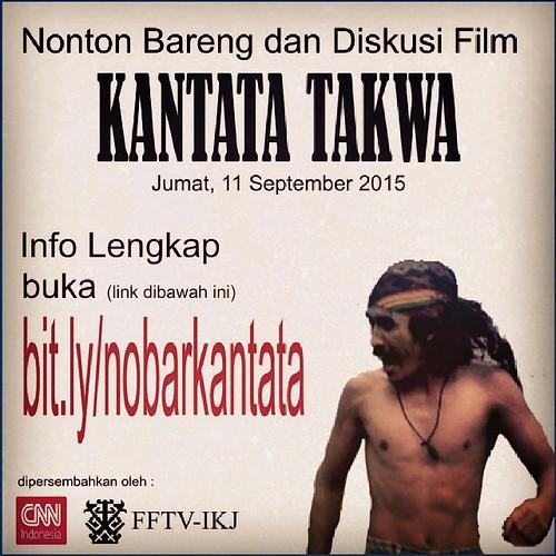 Nonton Bareng dan Diskusi Film Kantata Takwa  Jumat, 11 September 2015.  #iwanfals #kantata #kantatatakwa #nobar #kaosiwanfals #instafals #instalike #jualan #konveksi #fashion #love #falsmania #dksh
