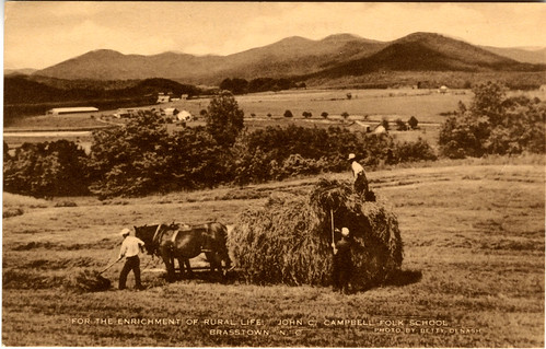 For the Enrichment of Rural Life.  John C. Campbell Folk School.  Brasstown, N.C.