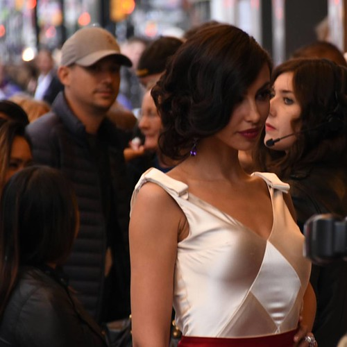 The sexy front of gown worn by #madalinaghenea #TIFF15 #TIFF40 #redcarpet #youthmovie #Youth #ElginTheatre #toronto #ontario #Canada #fun #fashion #style #hairstyle #body #actress #model