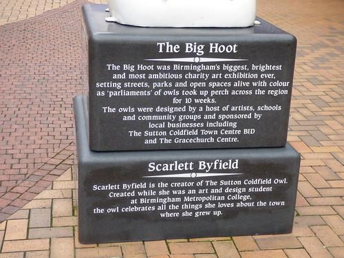 Gracechurch Shopping Centre - Sutton Coldfield - The Big Hoot - The Sutton Coldfield Owl