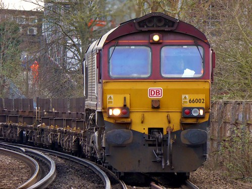 66002 Dollands Moor to Scunthorpe 4E26 empty steel