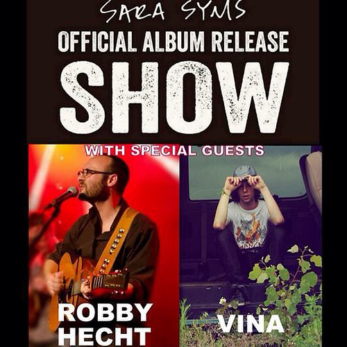 Oct 9 at Douglas Corner! Sara Syms Album Release with Robby Hecht and Vina!! 9pm