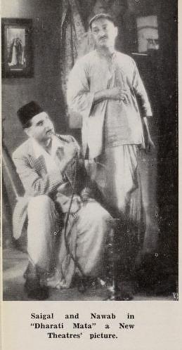 K.L Saigal & Nawab in Dharti Mata-1938