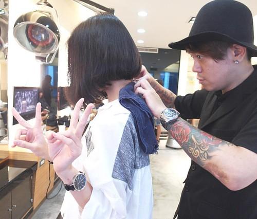 👉🎨💇💈👈 💈 Hair Color Designer/Anson Zacc Anson拿剪刀寫故事✂️ Salon & Anson Phone/ (02)2388-3553 0953166281💎 #Anson流 #Designer #napla #color #cute #Hair #HairColor #like #Life #HairDesigner #我是專業設計師 #zac