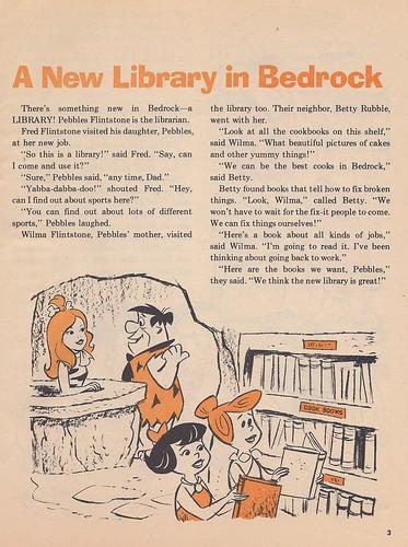 The Flintstones Weekly Reader Library book, 1973