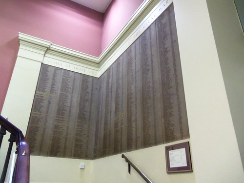 Names of the War Dead - Harris Museum and Art Gallery, Preston, Lancashire