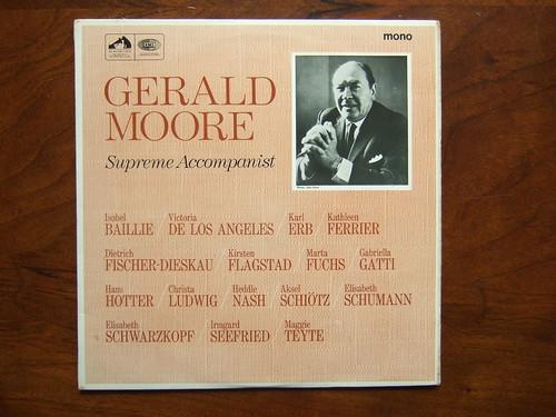Gerald Moore Piano - Supreme Accompanist, HMV EMI mono HQM 1072, 1972,