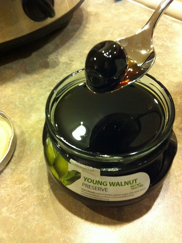 Young black walnut preserve