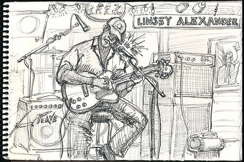 Linsay Alexander performing at Kingston Mines