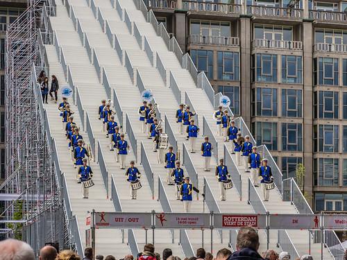 10/12 - Opening van 'De Trap' met Euroband - City of Rotterdam