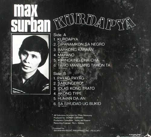 Kurdapya LP - Max Surban (Back)