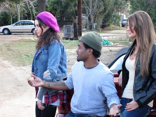Samantha Gutstadt (Mary), Dahrio Wonder (Peter), Holly Weber (Paula), HUFF Movie