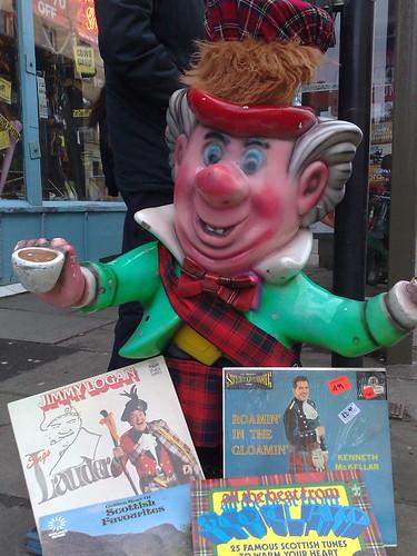The Mad Hatter presents Scottish Music LPs at Edinburgh record Shop
