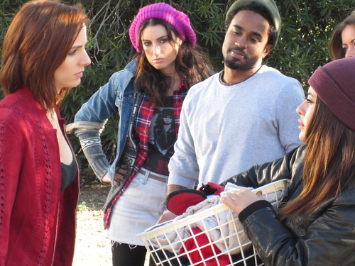 Amber Bollinger (Brixi), Samantha Gutstadt (Mary), Dahrio Wonder (Peter), Mayra Leal (Gina), HUFF Movie