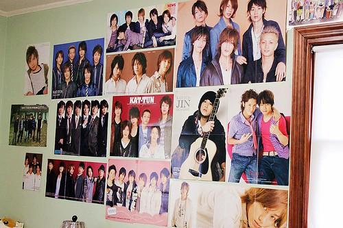 Wall of Japanese Boys