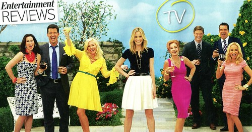 The cast of GCB in Life and Style Magazine