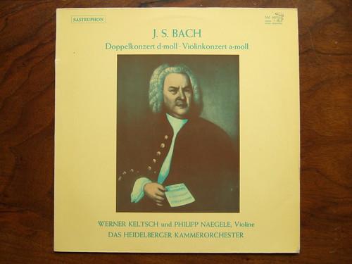 Bach - Doppelkonzert d-moll BWV 1043 & Violinkonzert a-moll BWV 1041 - Werner Keltsch & Philippe Naegele Violin, Heidelberger Kammerorch.,Sastruphon SM 007032