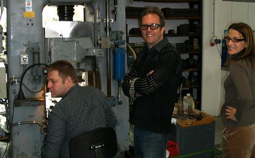 Modern tabletop retailers Fitzsu visit mono flatware factory