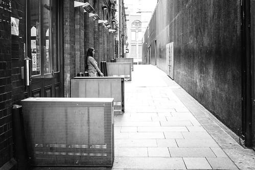 Smoke break in the alley