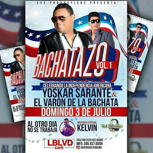 ESTE DOMINGO YOSKAR SARANTE Y EL VARON DE LA BACHATA EN VIVO!!! L' BOULEVARD CAFE!!! RESERVA TU MESA YA! @malafepromotions @lyricateeze #party #fiesta #Miami #hoysebebe #hookah #bachata