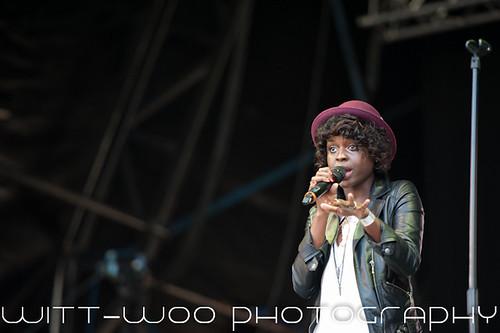 Gamu Nhengu   X Factor perform at Kendal Calling
