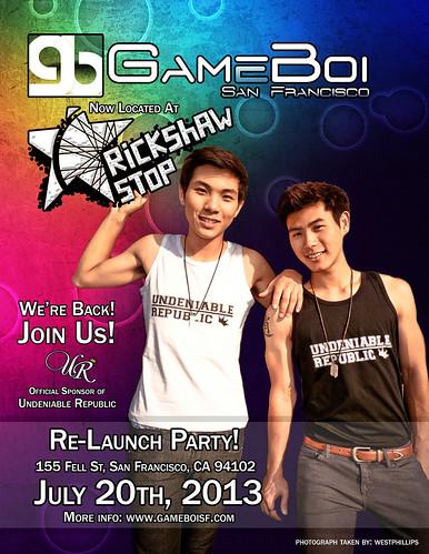 GameBoi Relaunch Party Flyer - full flyer